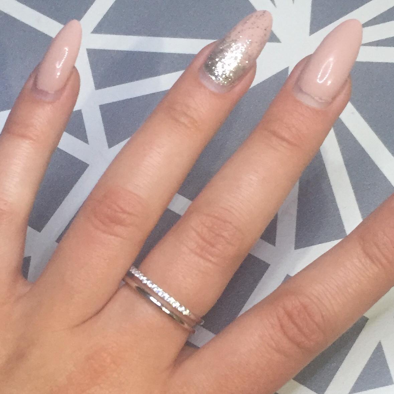 Двойное серебряное кольцо с фианитами