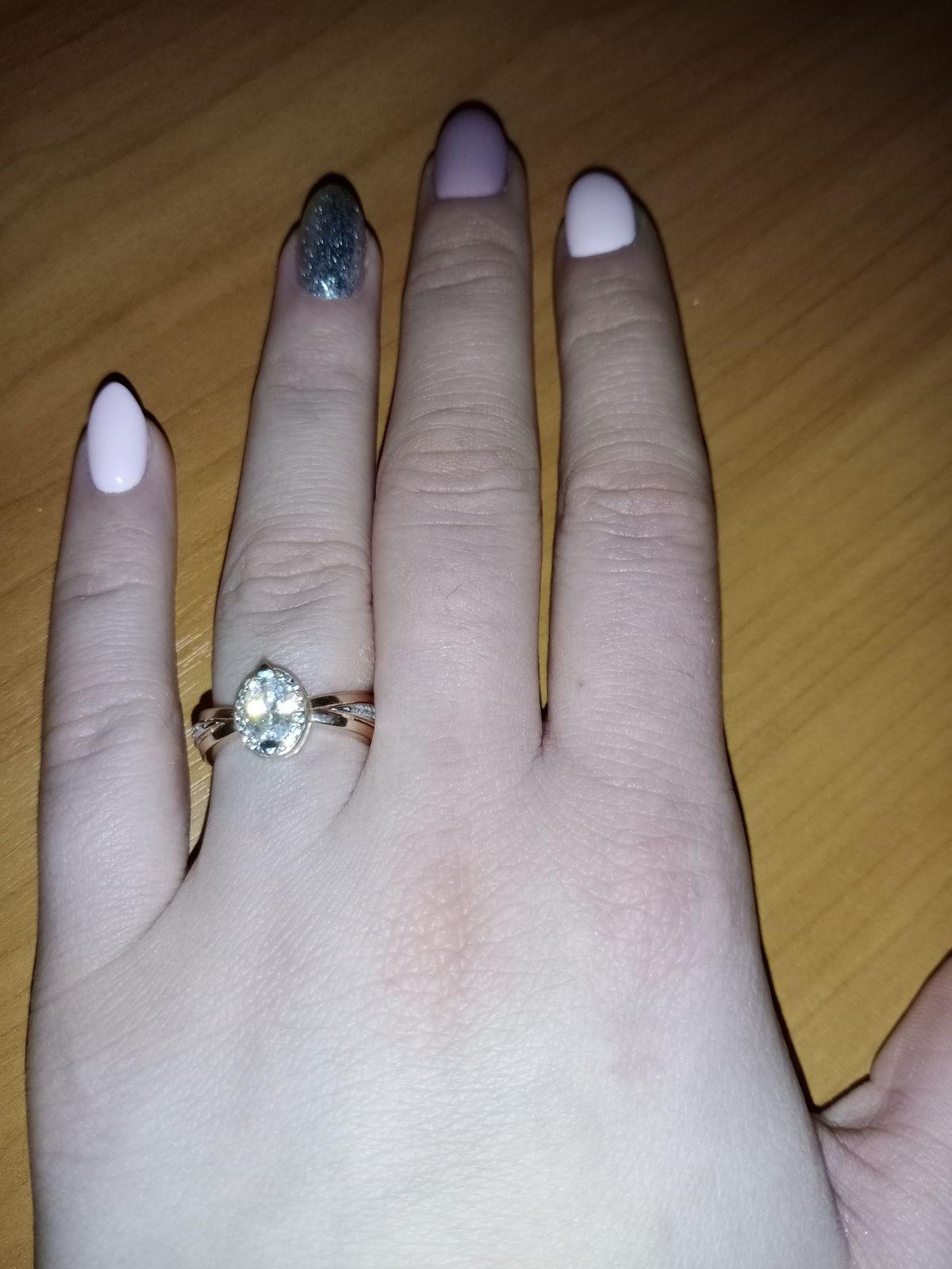 Кольцо позолота