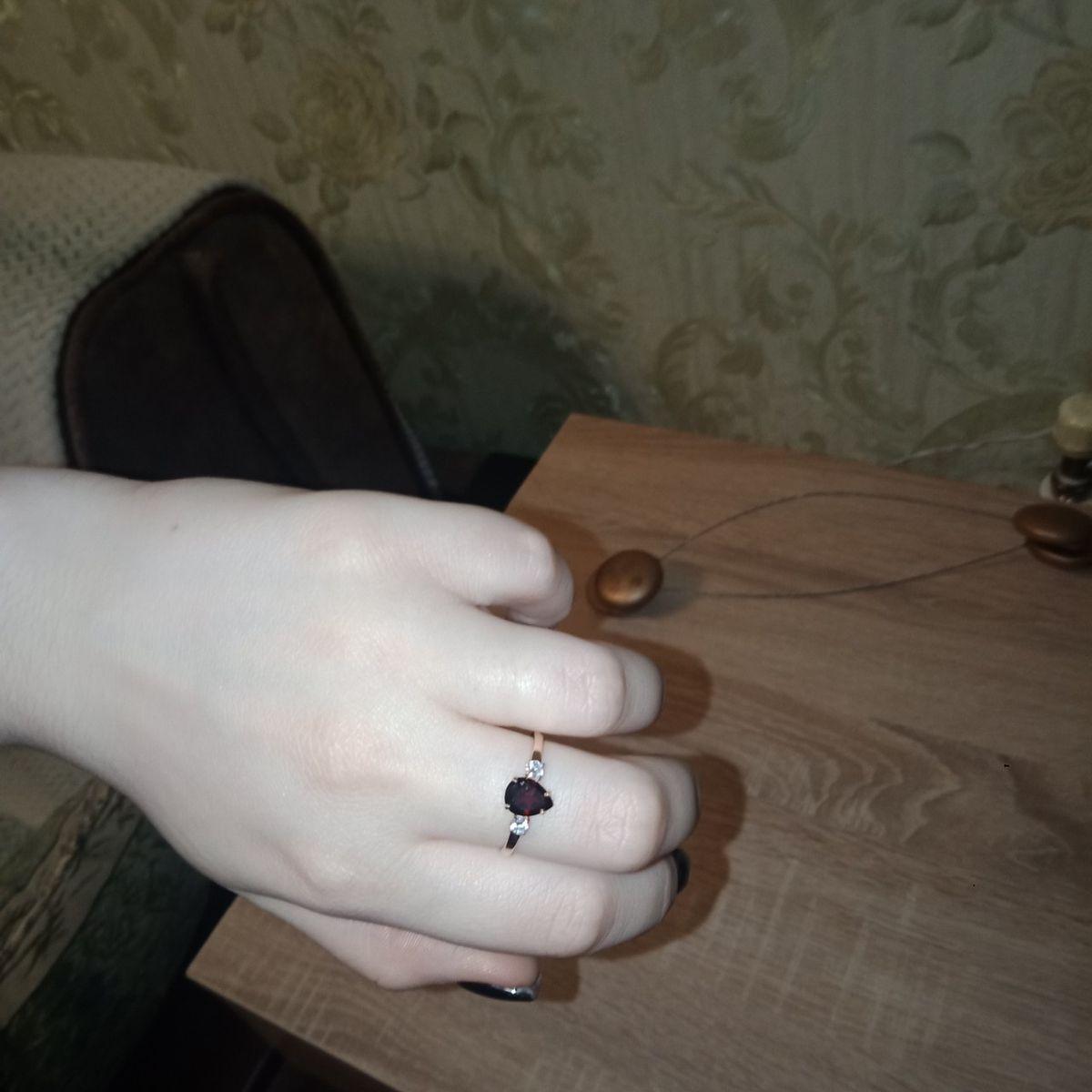 Кольцо гранат