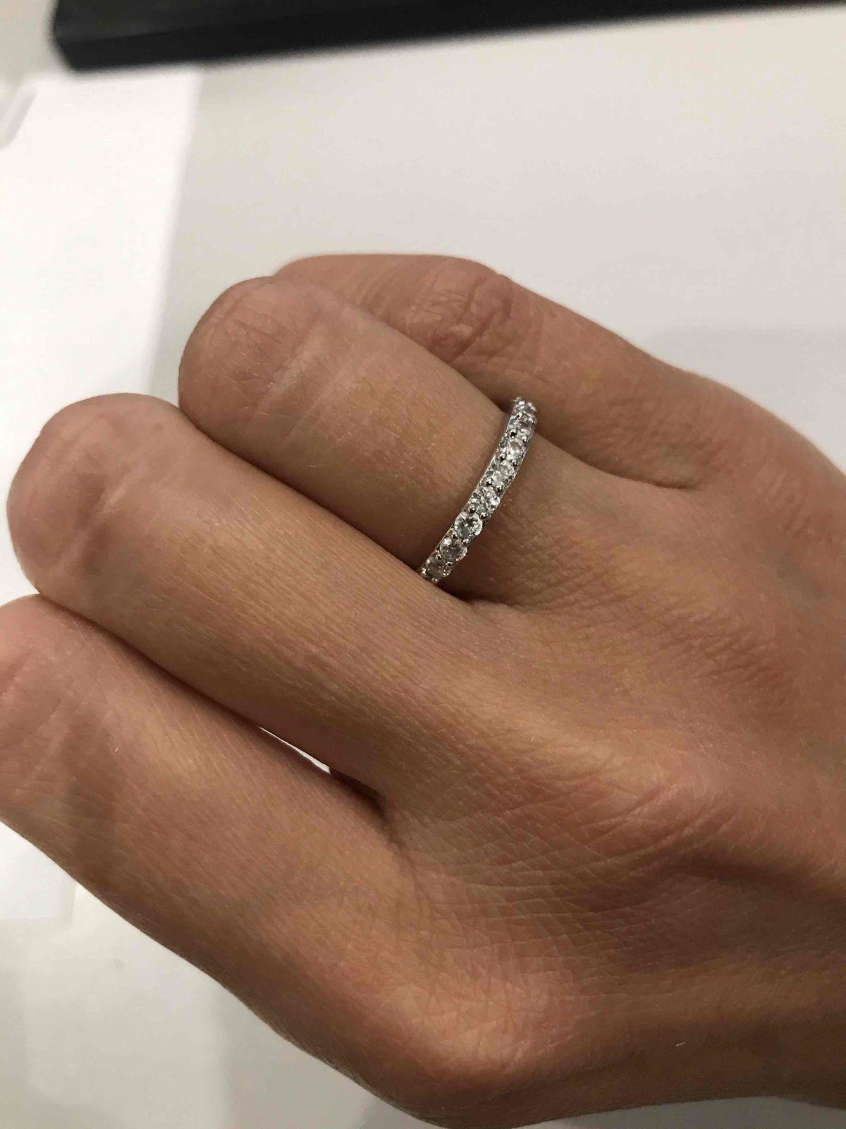 Серебряное кольцо с фианитам ❤️