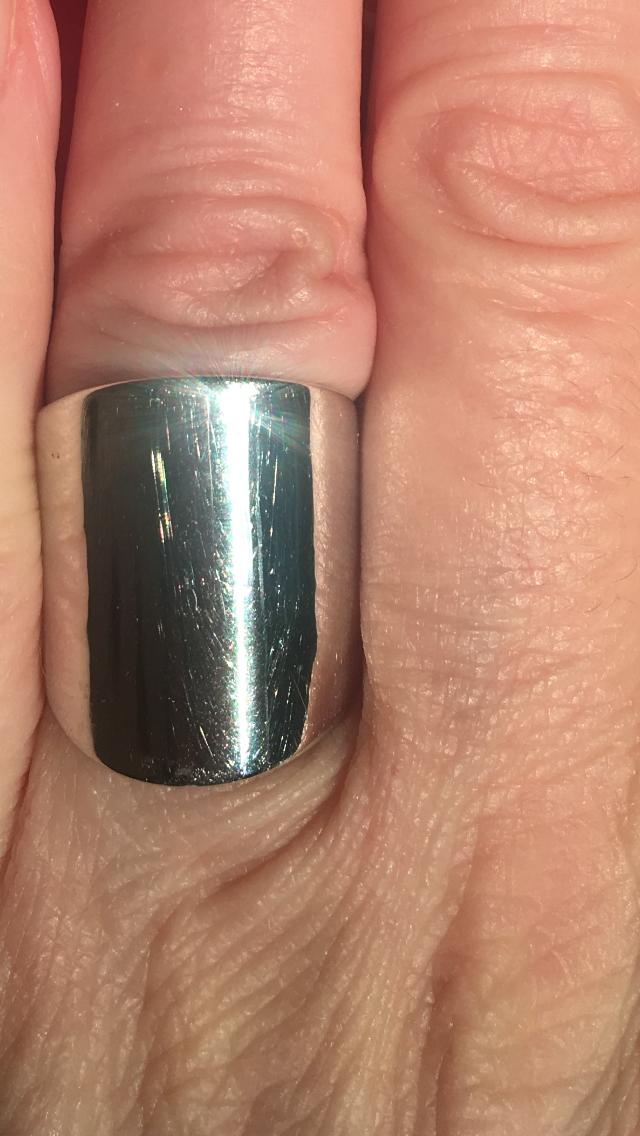 Кольцо широкое, серебро