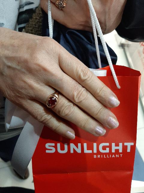 Золотое кольцо с рубином !