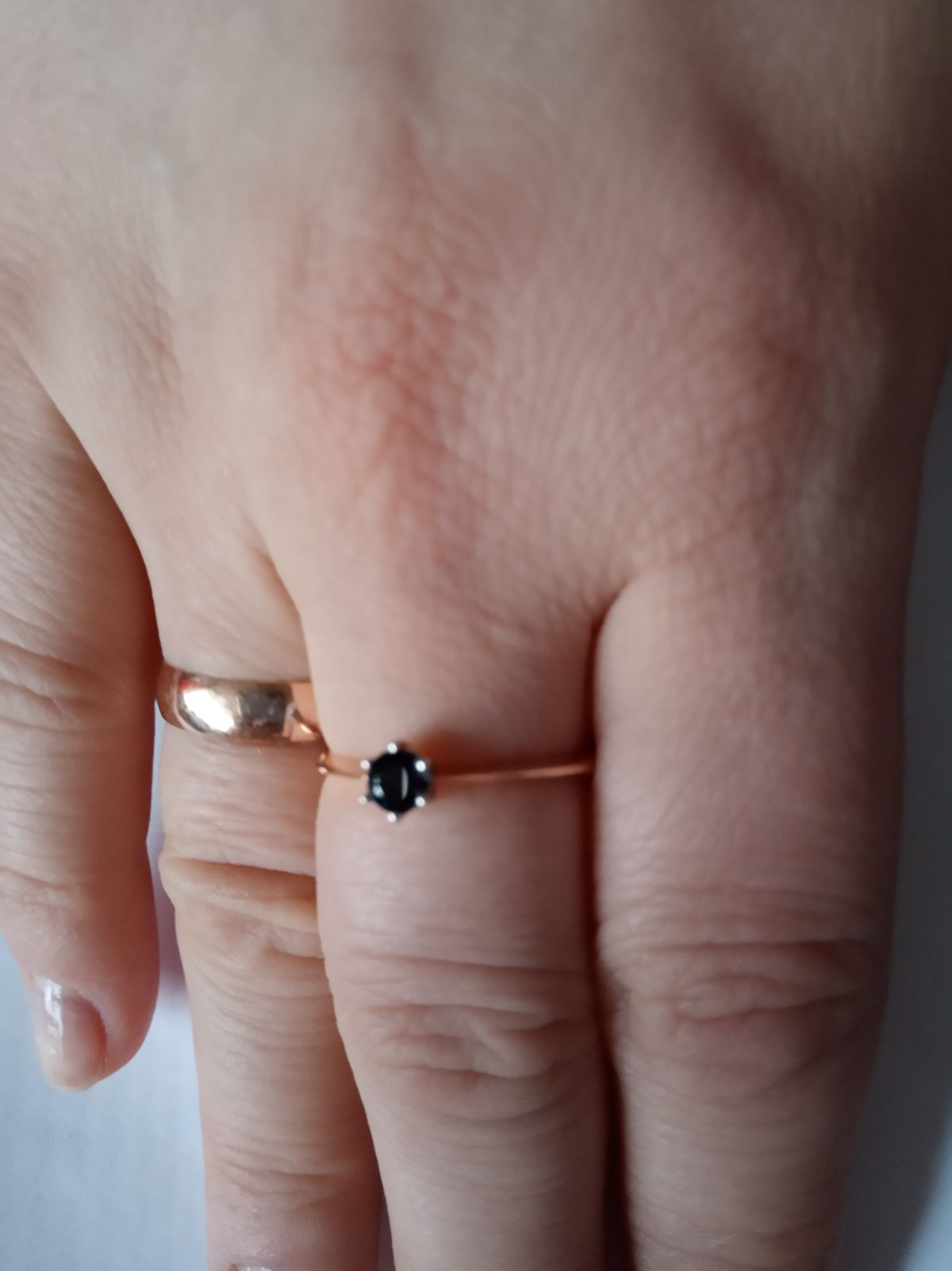 Кольцо с природным сапфиром
