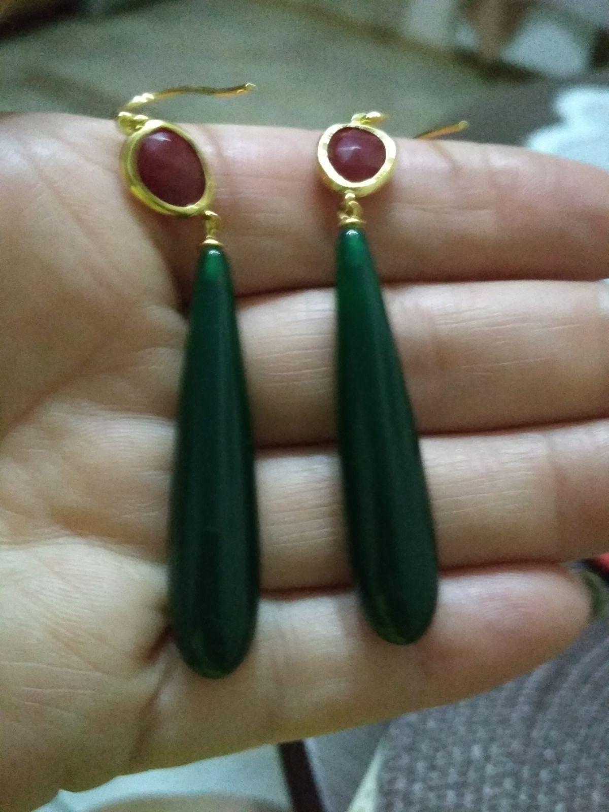 Классные зелёные серьги