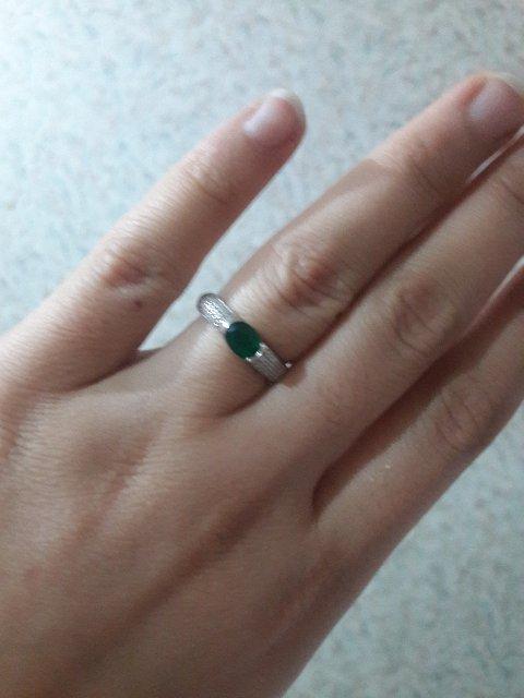 Серьги с кольцом