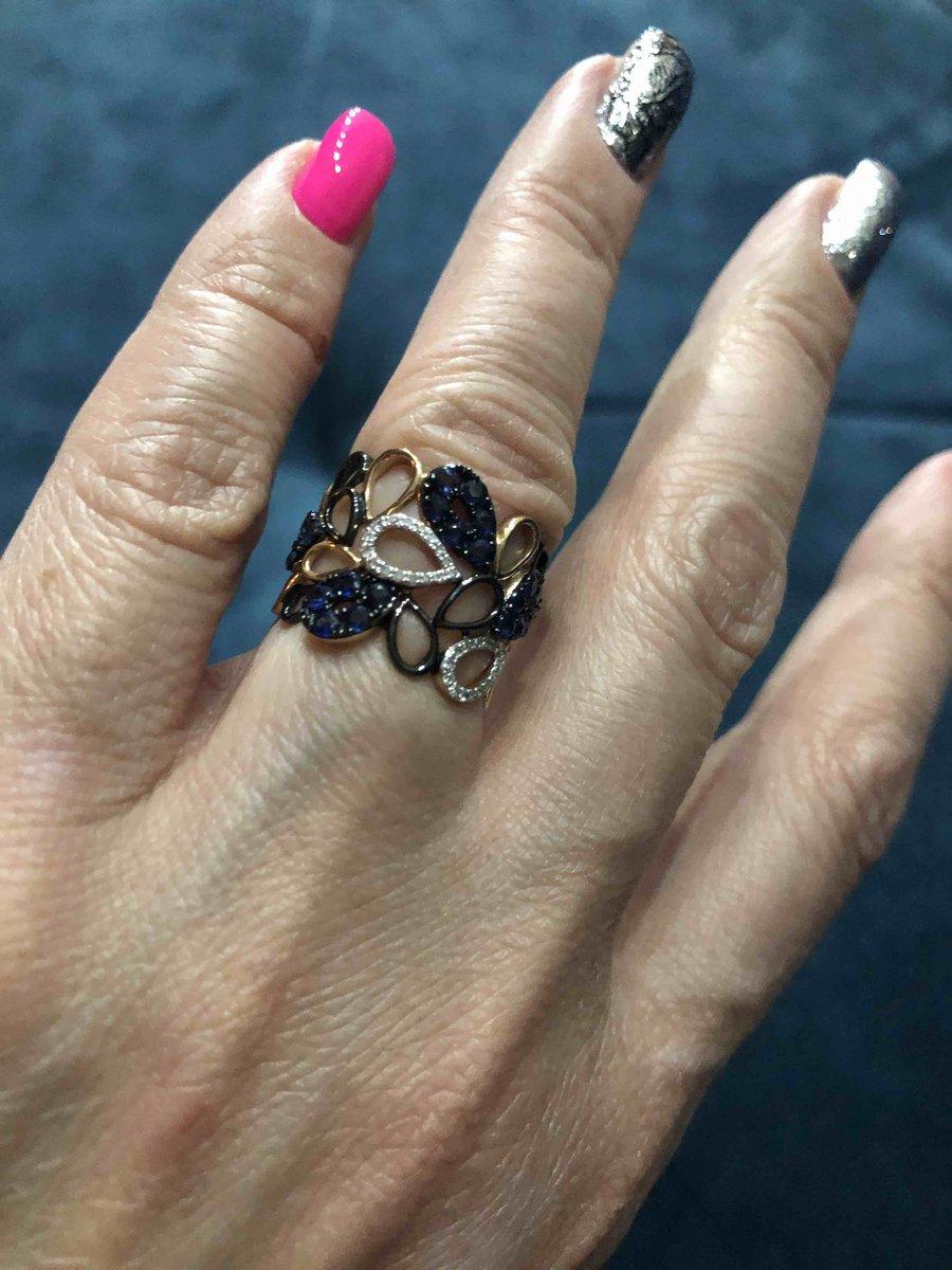 Кольцо с сапфирами и брилиантами