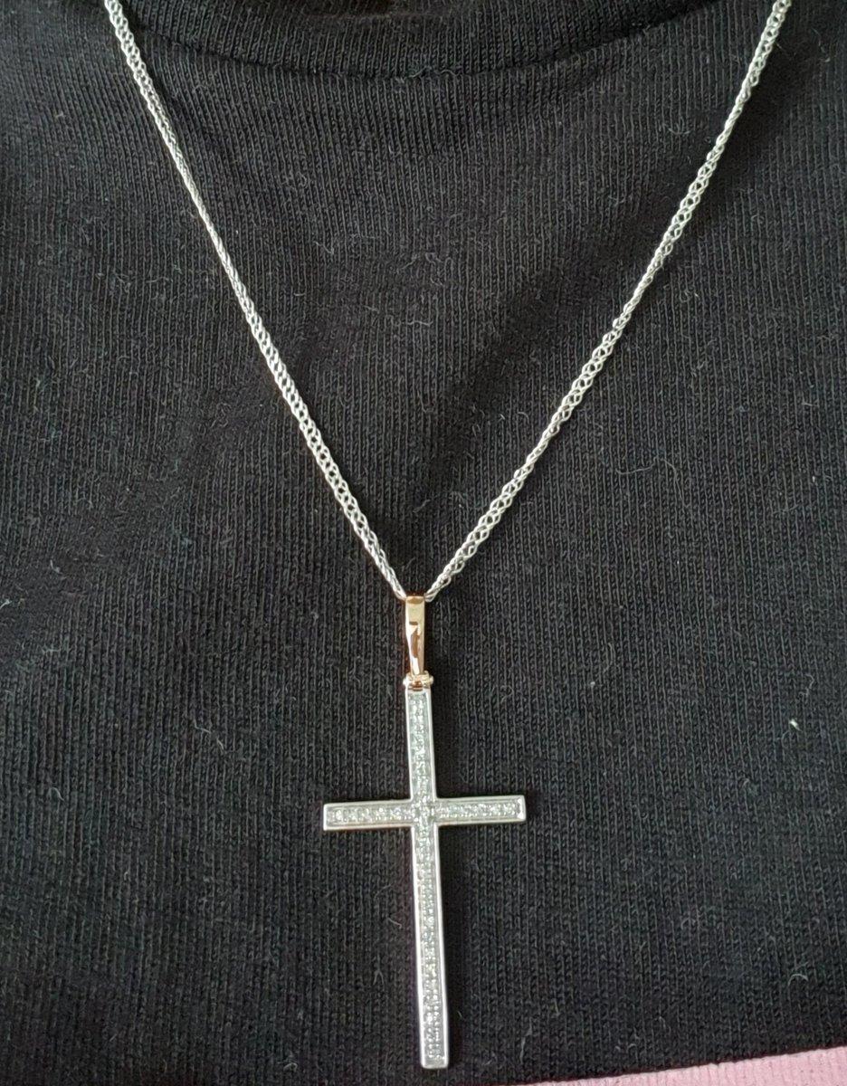 Тонкая цепочка под крестик