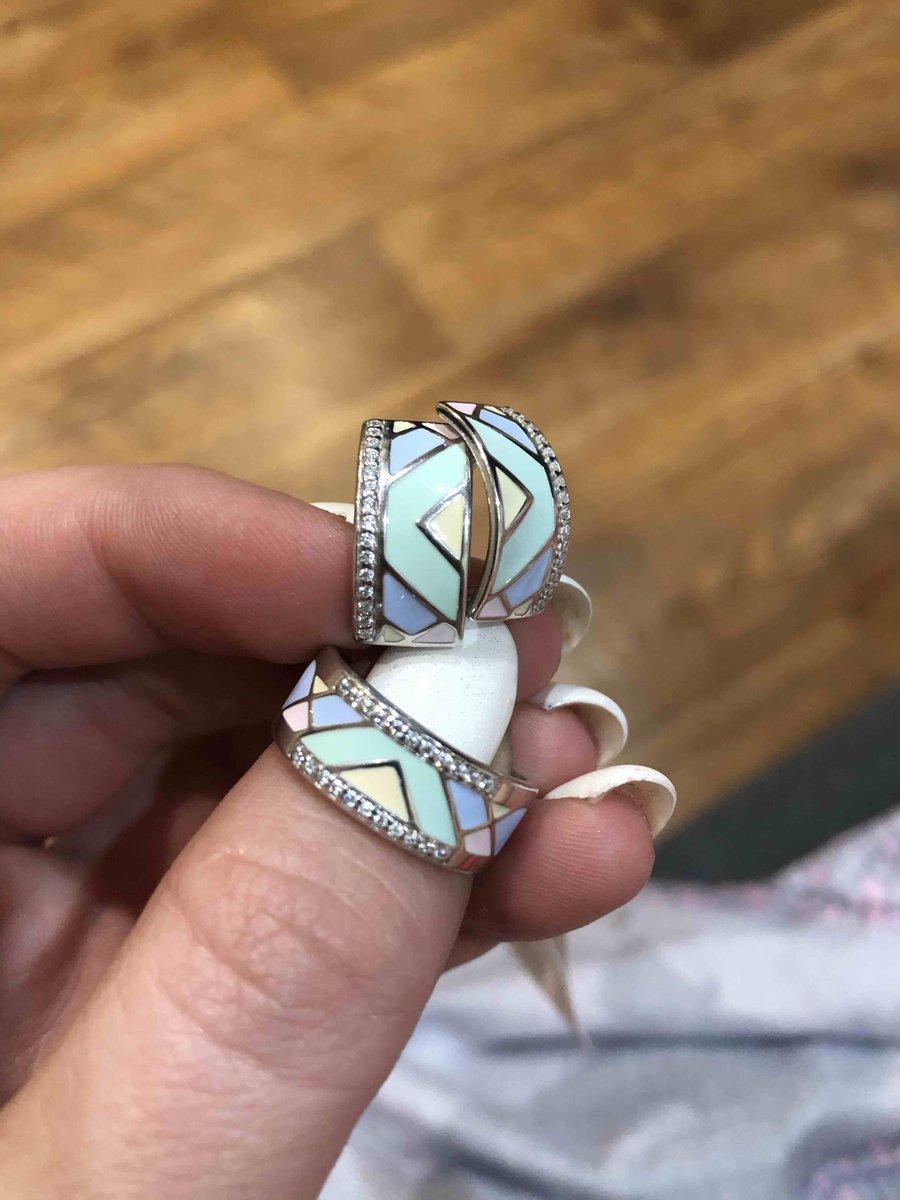 Купила сережки и кольцо