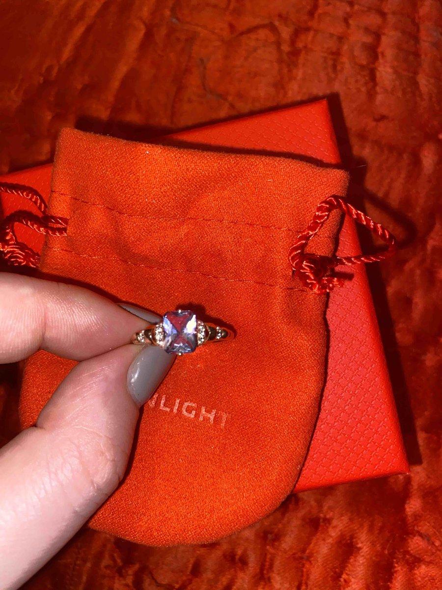 Кольцо с искусственным турмалином