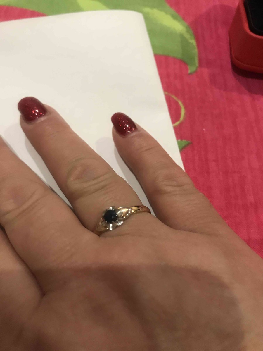 Кольцо с самфиром