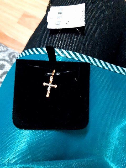 Крестик золотой с 4 брилиантами