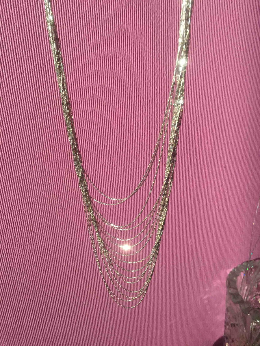 Ожерелье из серебра.