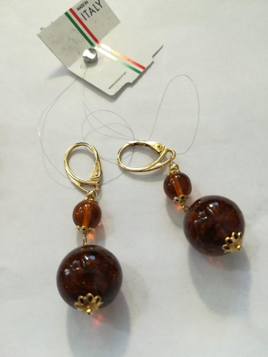 Серебряные серёжки из Италии
