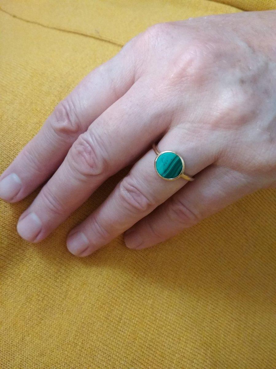Прекрасное кольцо с малахитом!!!)