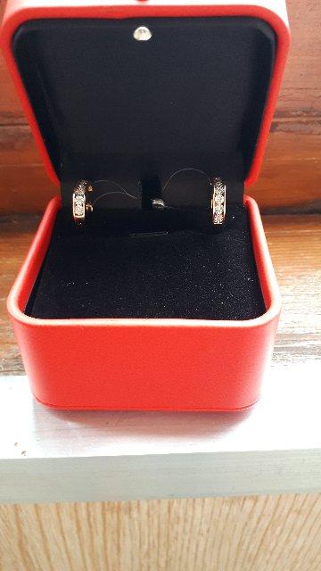 Сережки с бриллиантиками