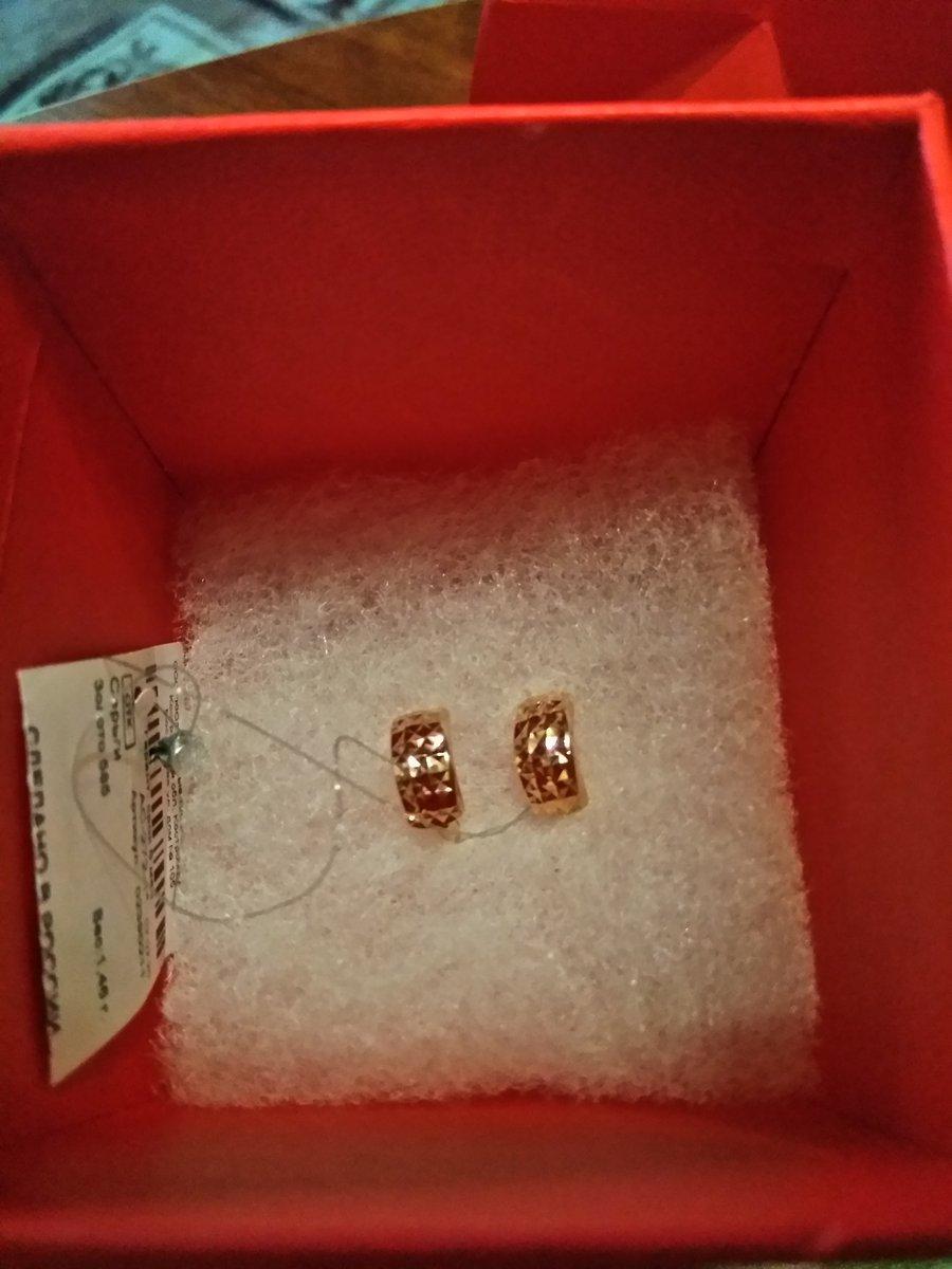 Серьги золотые с алмазной гранью.
