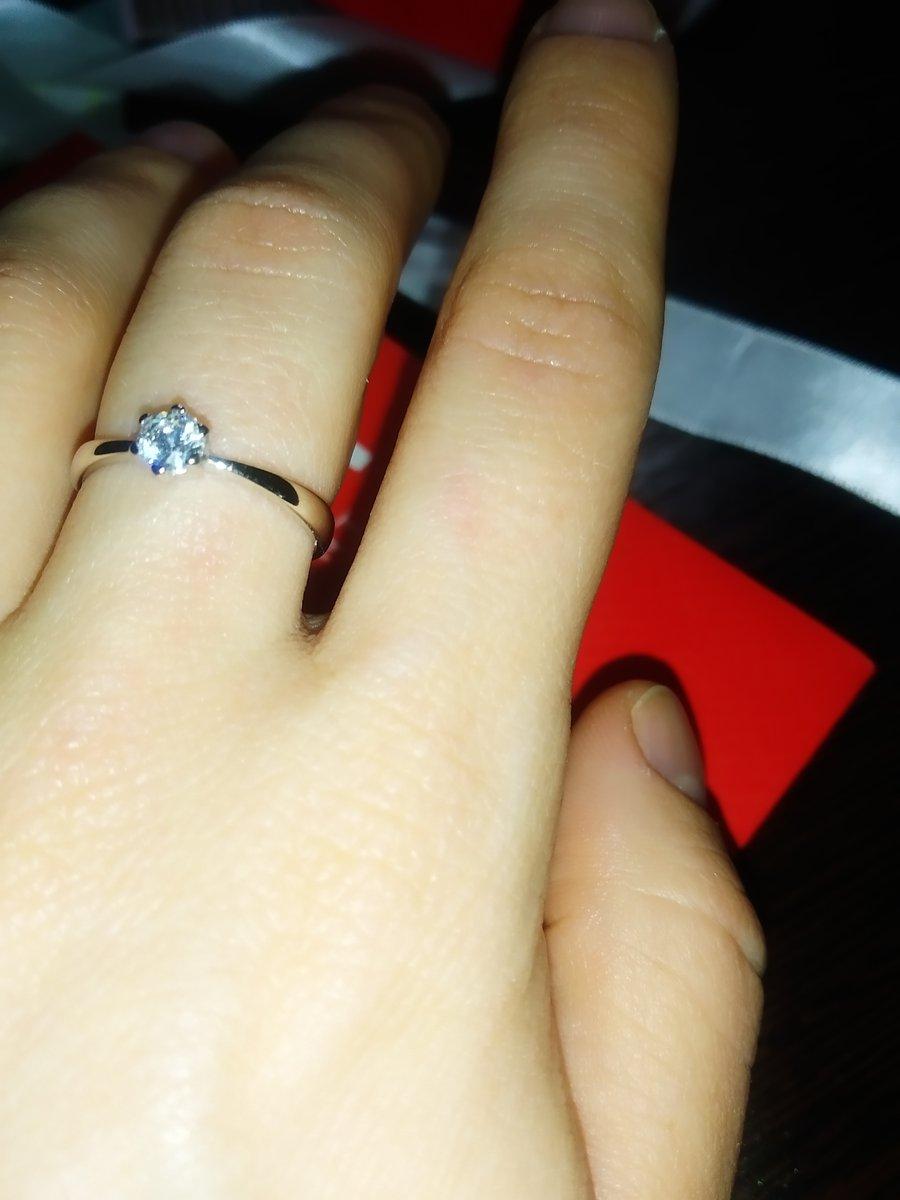 Кольцо с кристаллом