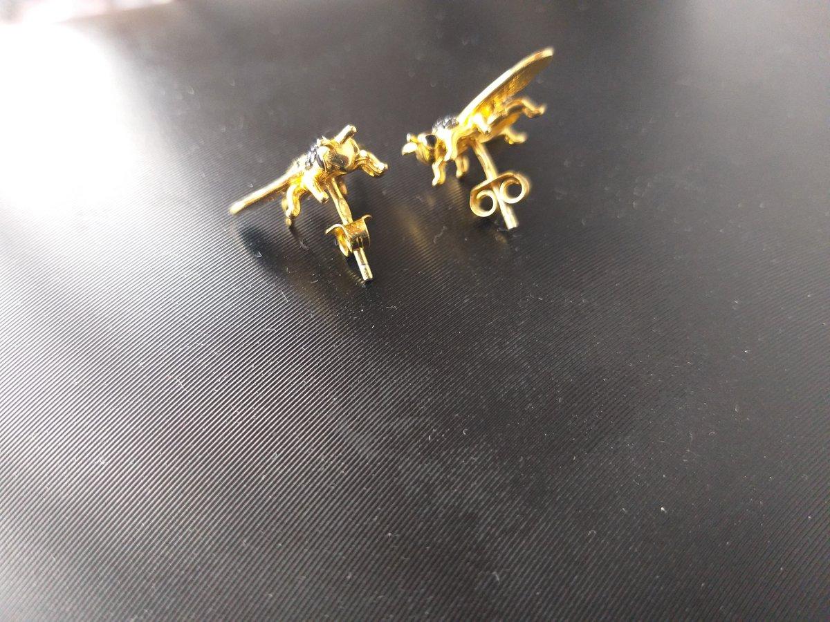 Пчелки (серьги с эмалью)