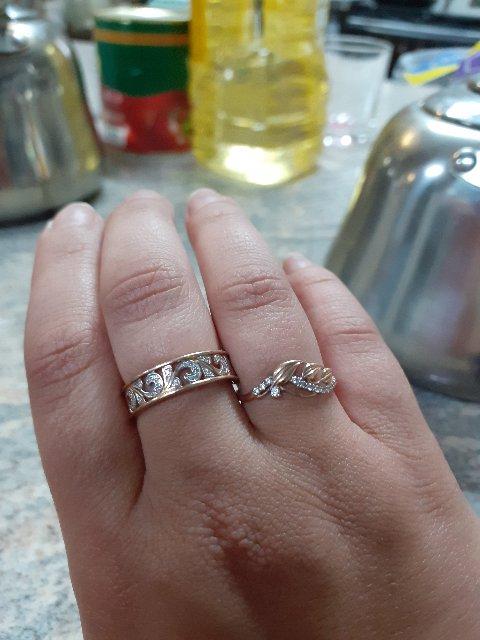 Кольцо золотое)