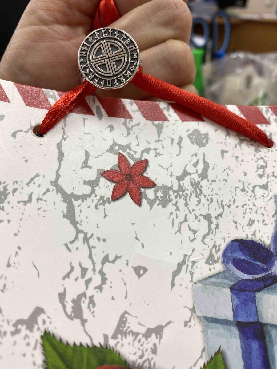 Серебряное кольцо-оберег Узел защиты