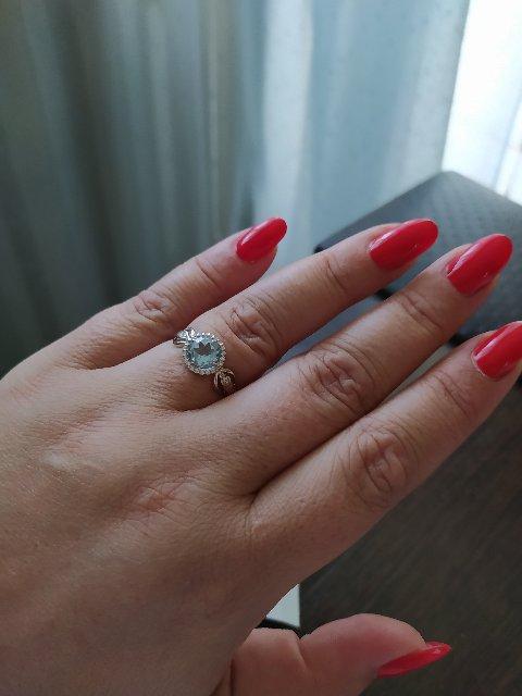 Кольцо серебряное с топазом.