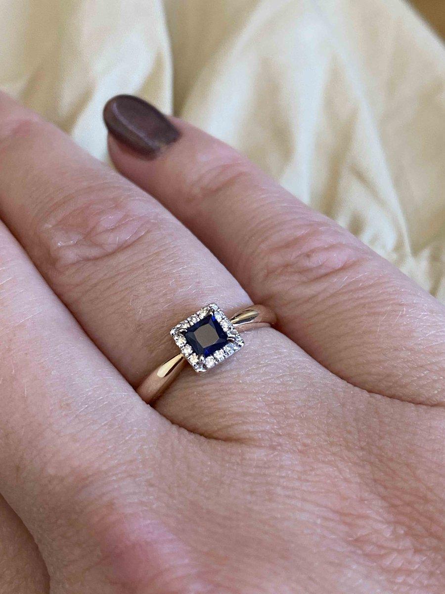Кольцо с сапфиром и брилиантами