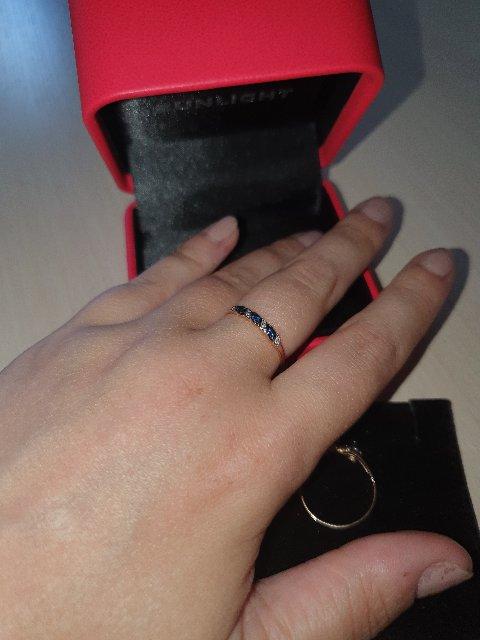 Кольцо с сапфирами и бриллиантами.