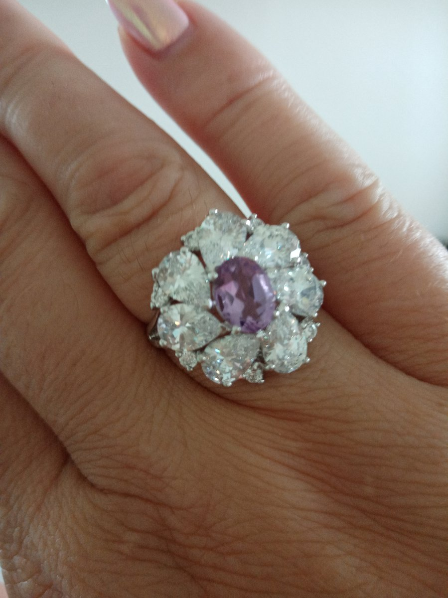 Супер кольцо с  аметистом!!!