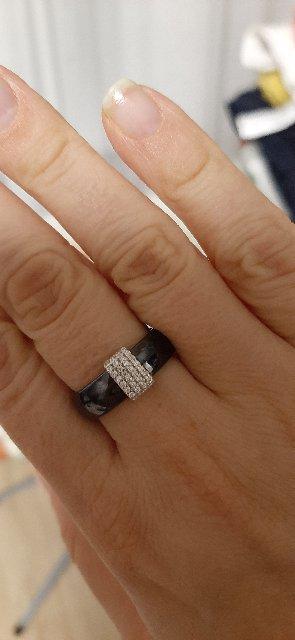 Кольцо эмаль чёрное