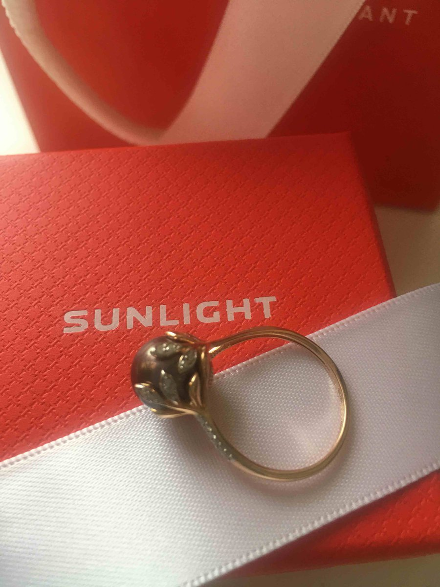 Кольцо с черным жемчугом- просто мечта!подарок от мужа на годовщину свадьбы