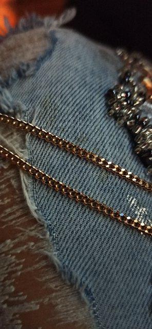 Цепь панцирное плетение 55 см 5.77 гр