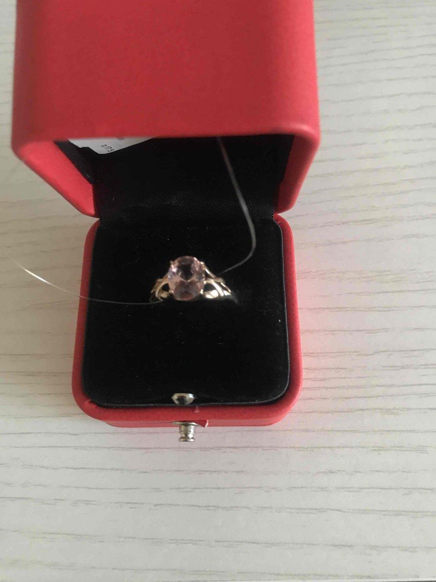 Очень красивое кольцо с морганитом!