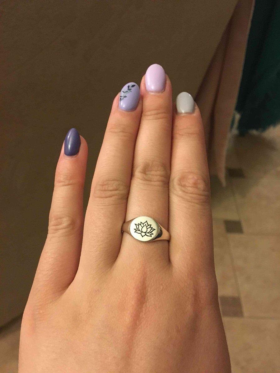 Кольцо с «лотосом»