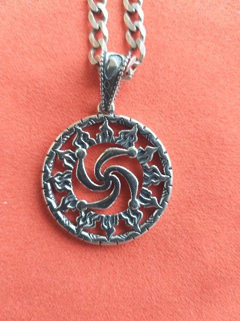 """Серебряная подвеска-оберег """"символ рода в солнце"""""""