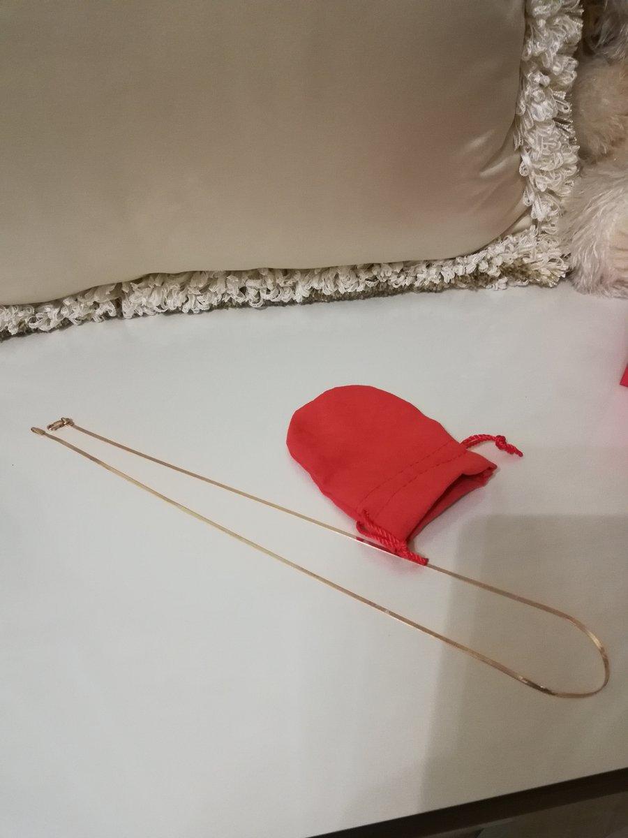 Цепочка из розового золота, длина 50 см.