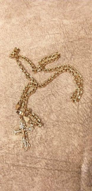 Крест с 4мя бриллиантами