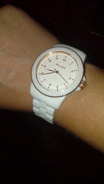 Часы оками керамика белая унисекс