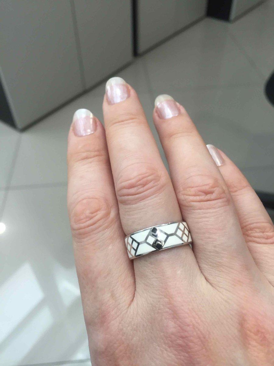 Керамическое кольцо с этническим узором