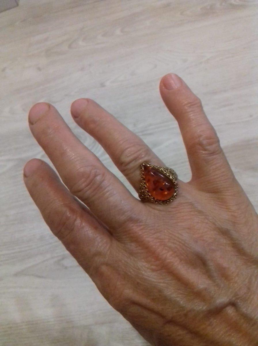 Кольцо серебро яниарь