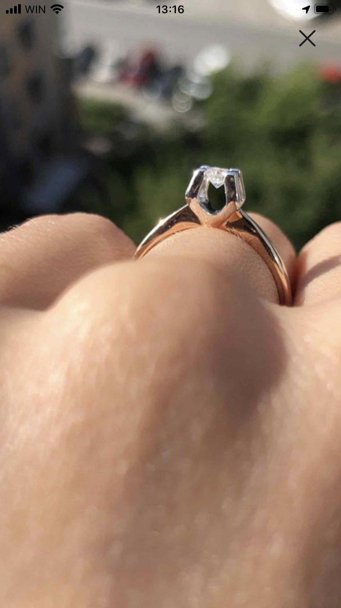 Кольцо с бриллиантом из якутии