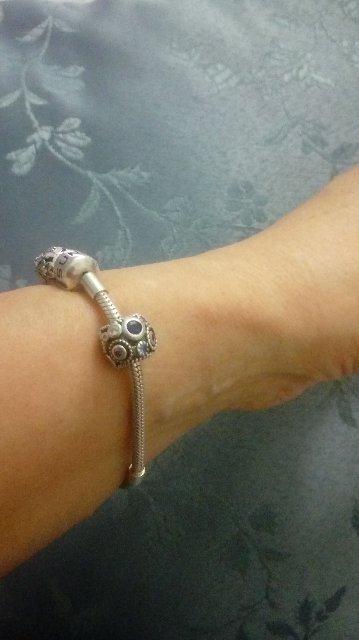 Шарм на серебрянный браслет
