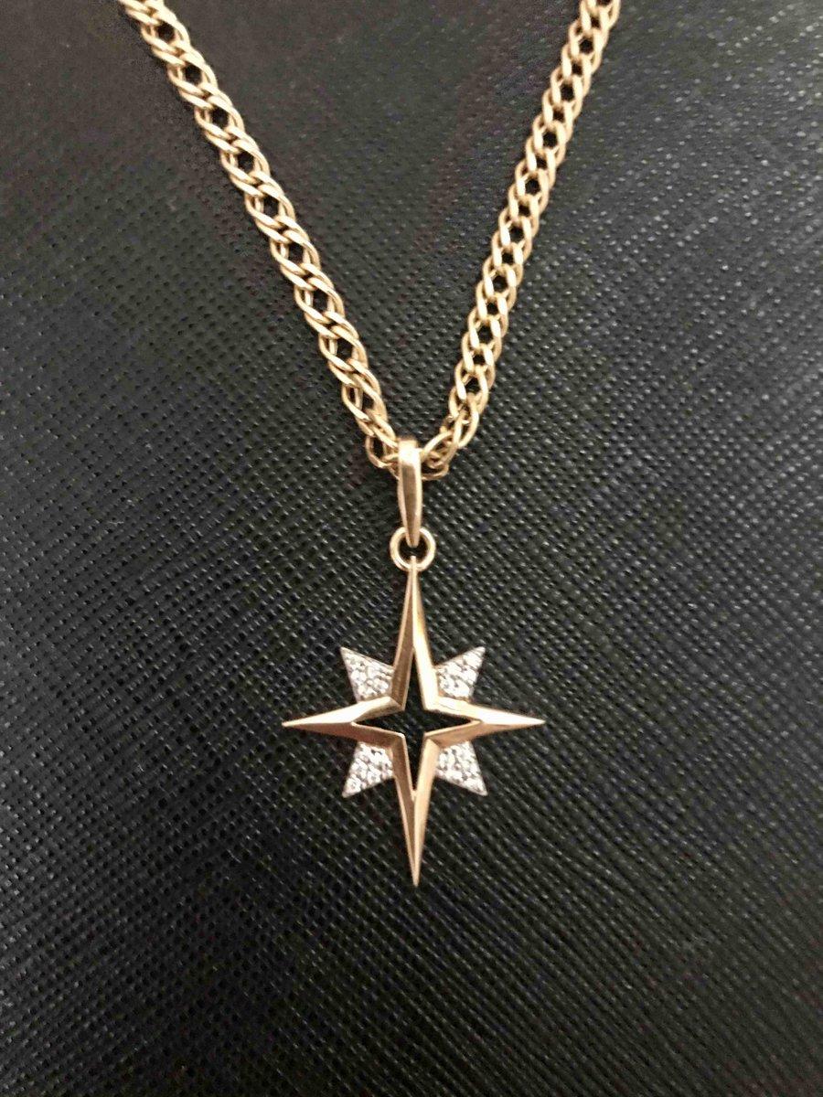 Золотой кулон « звезда»