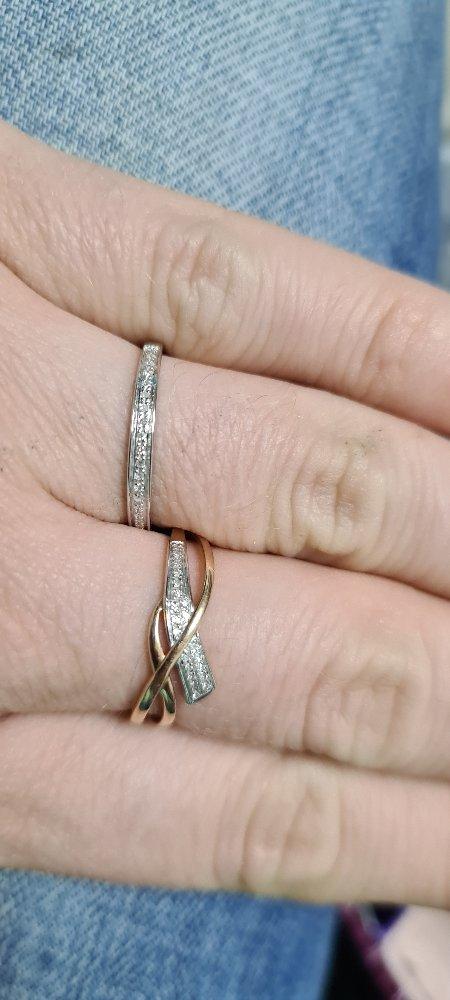 Белое золото с бриллиантами))