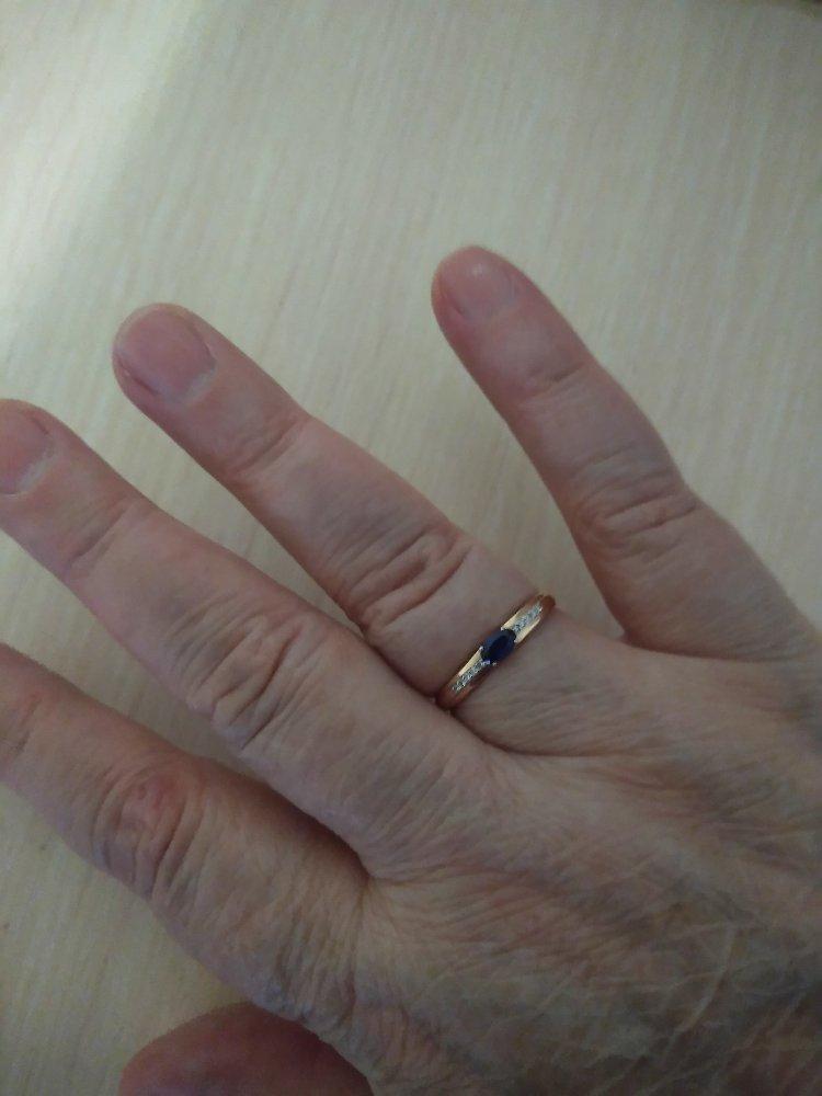 Золотое кольцо с сапфирами!