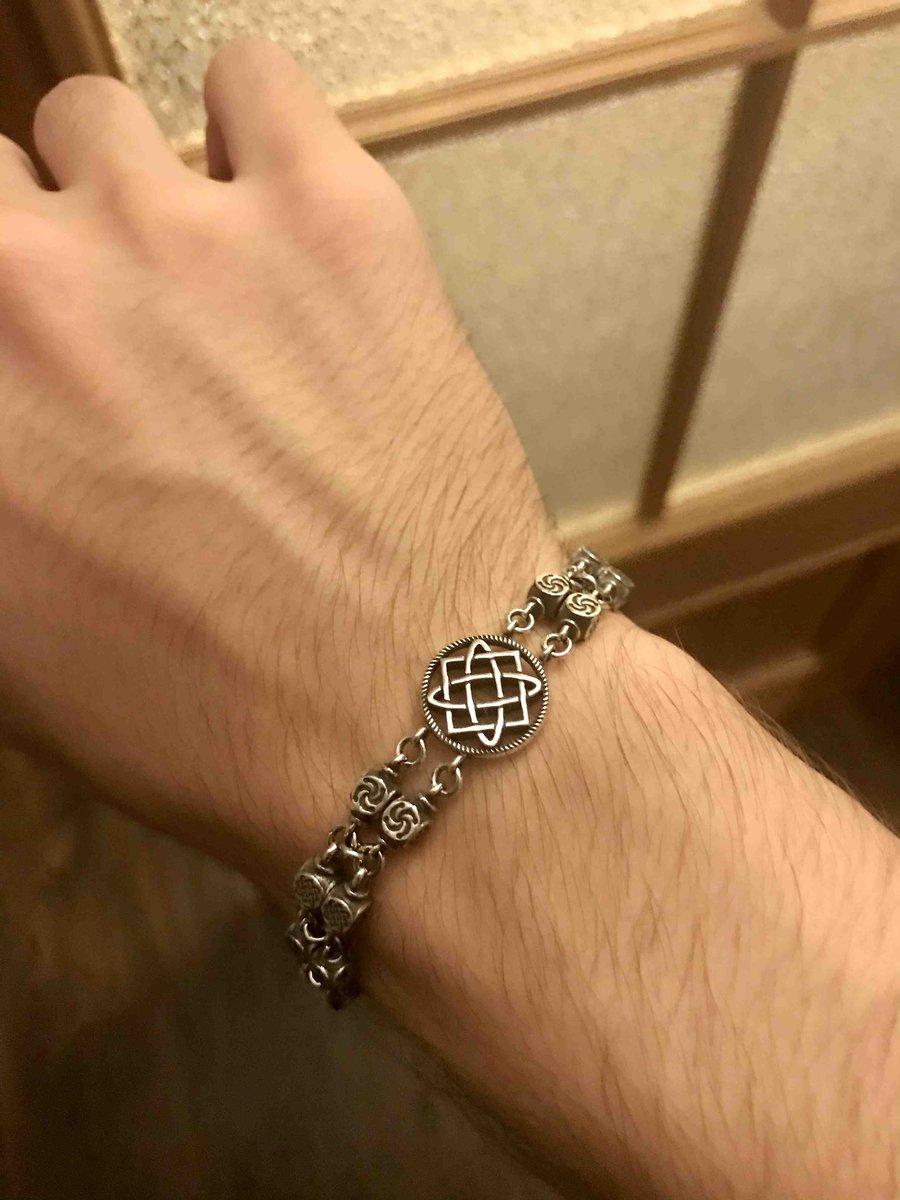 Славянский серебряный браслет