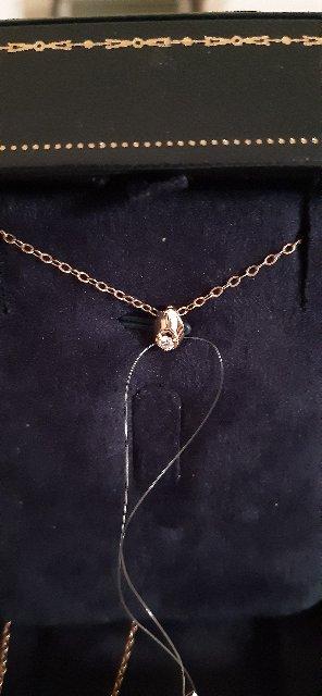 Капелька с бриллиантом