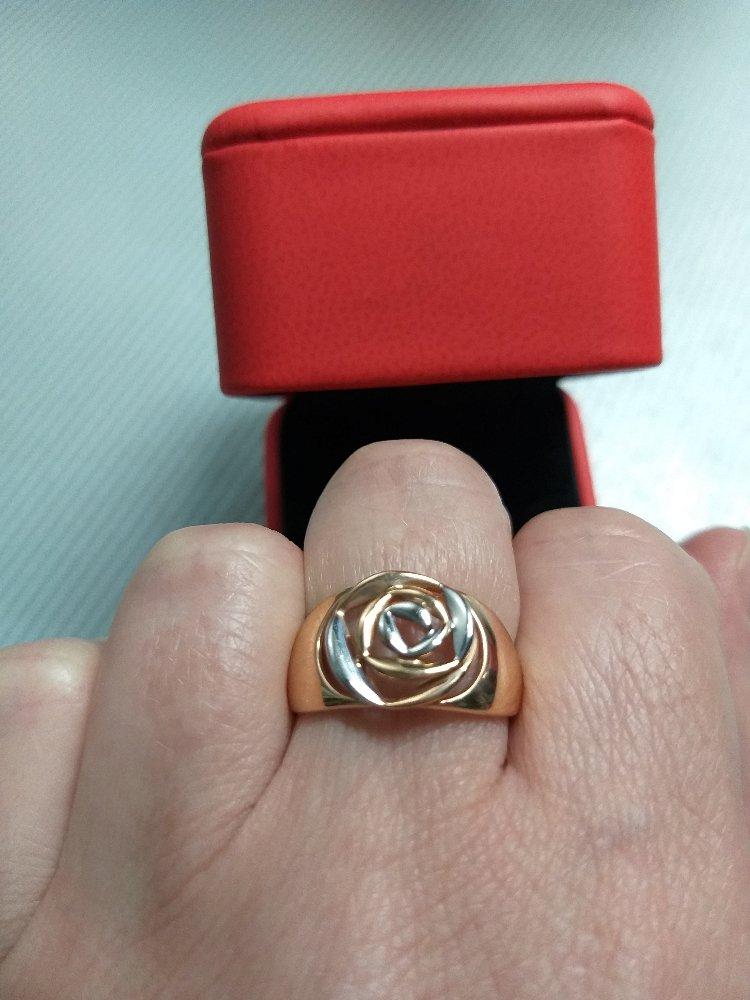 "Кольцо ""золотая роза"""