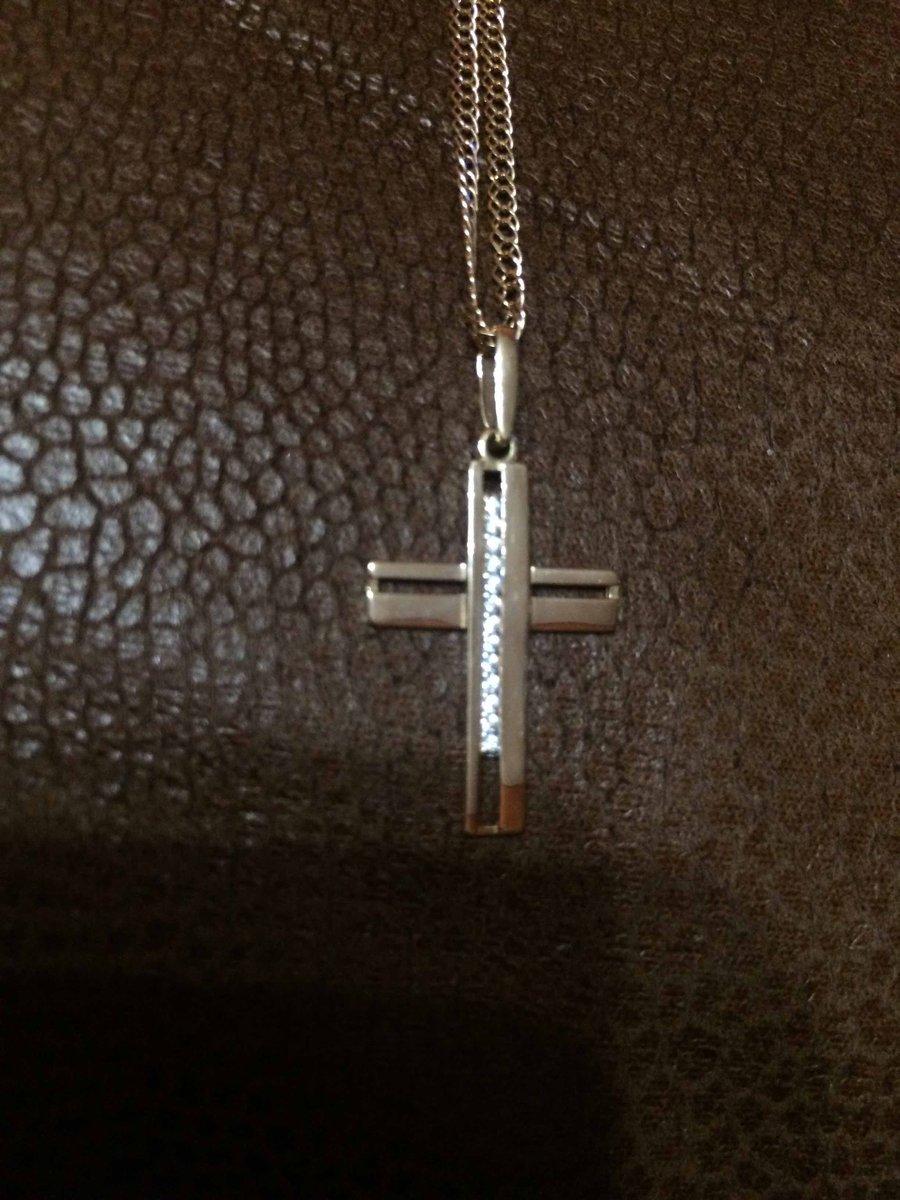 Золотой крестик с фионитовой крошкой