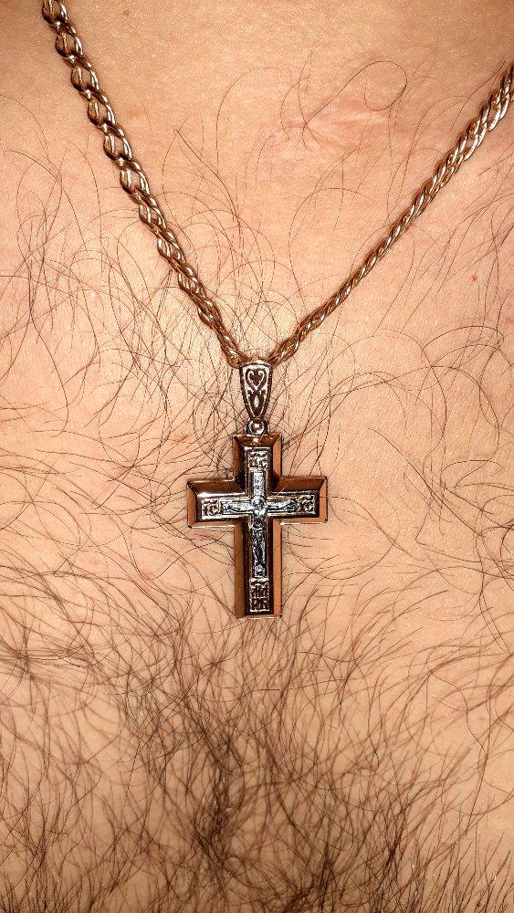 Крест золотой...