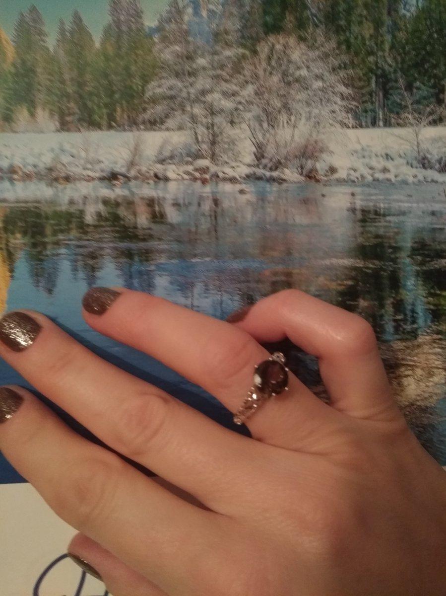 Мой отзыв о серебренном кольце с раух топазом